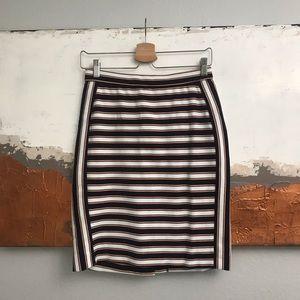 Banana Republic striped textured pencil skirt